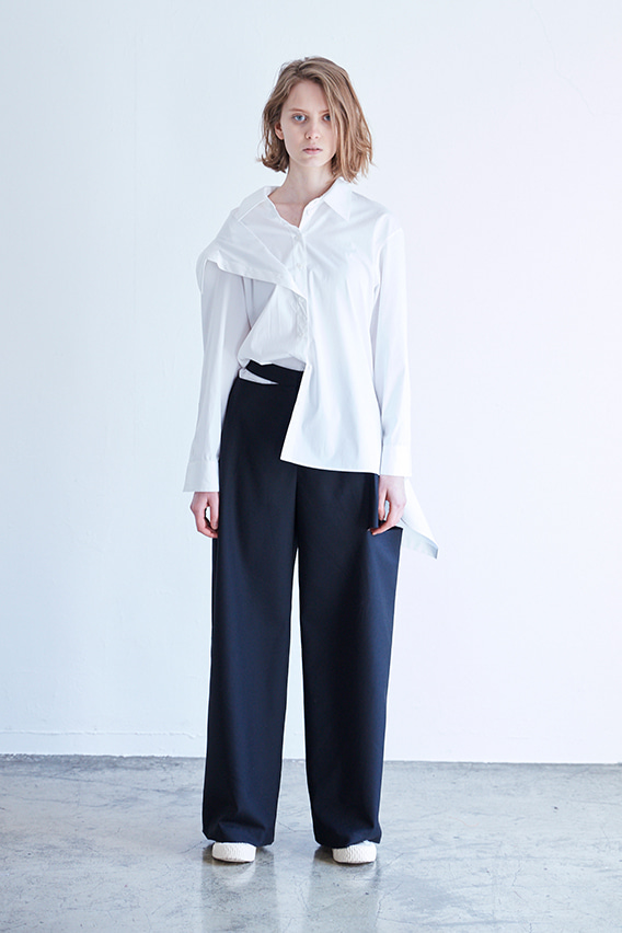 BELT DROPPED TROUSER_W